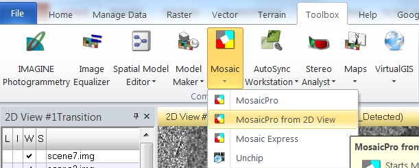 ERDAS – Mosaicking using MosaicPro 2D Tutorial