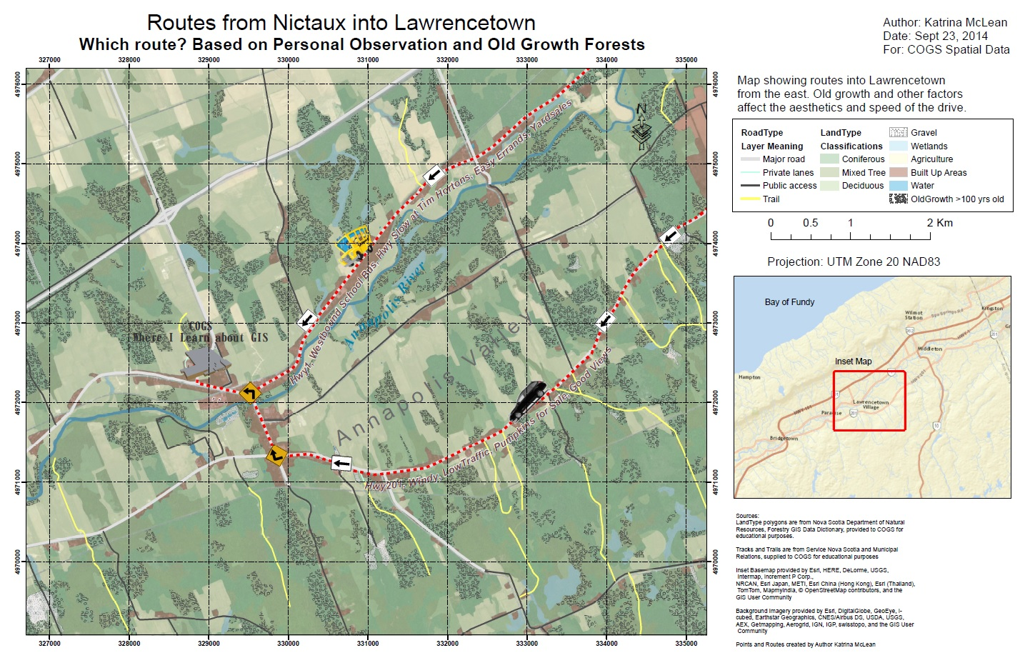Lawrencetown Thematic Map