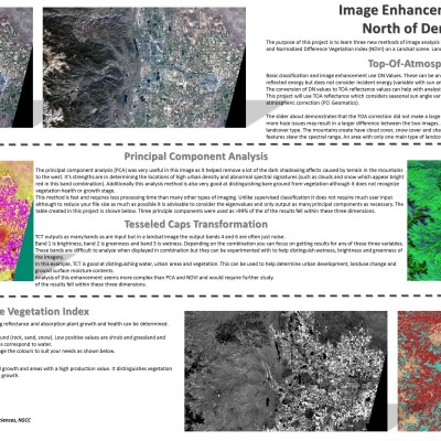 Advanced Image Enhancement – Atmospheric Correction, Principal Component Analysis (PCA), Tesselated Caps (TCT), Normalized Difference Vegetation Index (NDVI)