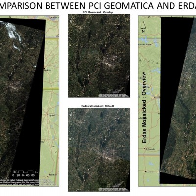 Mosaicking : Comparing Results from ERDAS Imagine and PCI Geomatica
